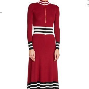 NWT Maje Zip Neck Sweater Dress Size 1